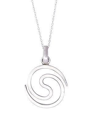 Stylized Yin Yang Sterling Silver Pendant