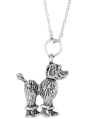 Sterling Silver Cute Dog Pendant
