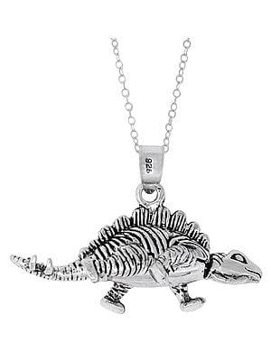 Dinosaur Sterling Silver Pendant