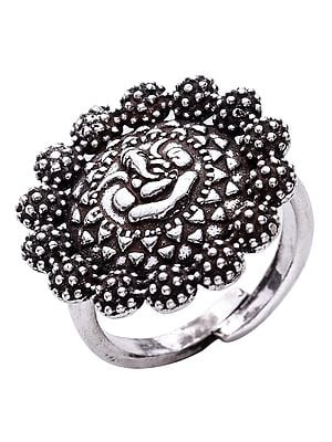 Antique Sterling Silver Ganesha Ring