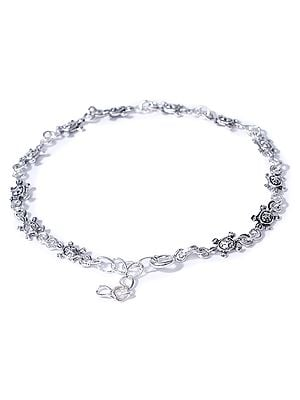 Sterling Silver Bracelet with Tortoise Design