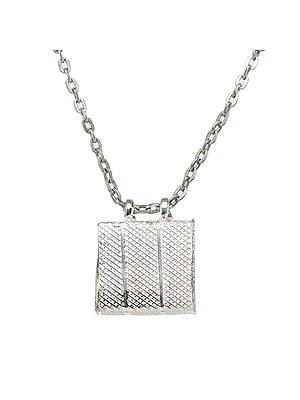 Sterling Silver Rectangular Talisman