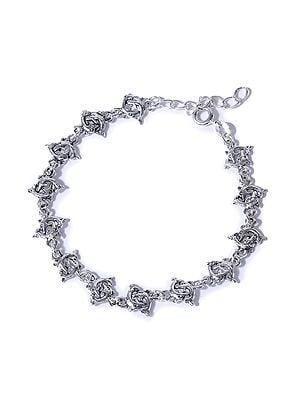 Sterling Silver Twin Fish Bracelet