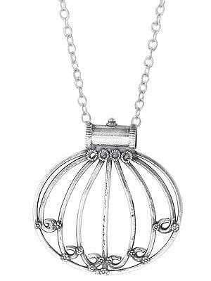 Lotus Designer Sterling Silver Pendant