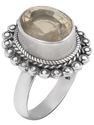 Faceted Citrine Sterling Silver Ring