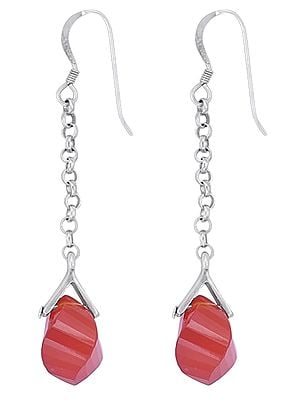 Stylish Gemstone Earrings with Dangle Made in Sterling Silver