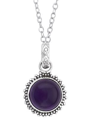 Sterling Silver Pendant Pair Studded with Precious Gemstone