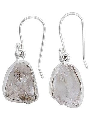 White Topaz Earrings Made in Sterling Silver