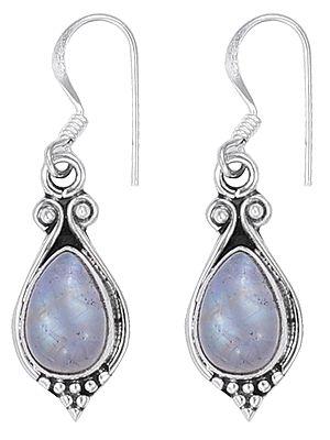 Drop Shaped Designer Gemstone Earrings Made in Sterling Silver