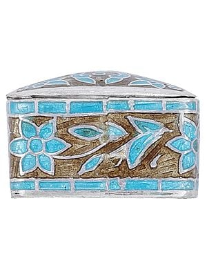 Sterling Silver Designer Meenakari Box