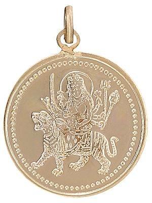 Goddess Nava Durga Pendant with Nava Durga Yantra on Reverse