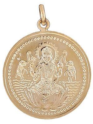 Shri Maha Lakshmi Pendant with Shri Maha Lakshmi Yantra on Reverse