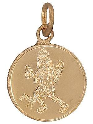 Shri Bhairava Pendant with Shri Bhairava Yantra on Reverse