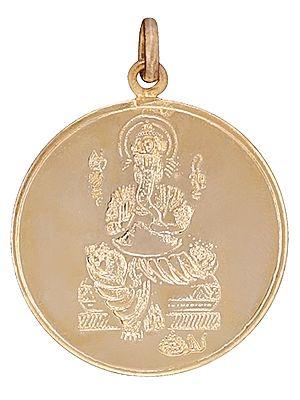 Shri Ganapati  Pendant with  Shri Ganapati Yantra on Reverse