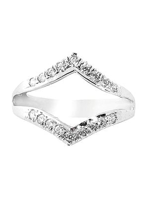 Superfine Sterling Silver Ring with Cubic Zirconia Stone
