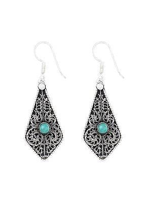 Designer Sterling Silver Earrings with Gemstone
