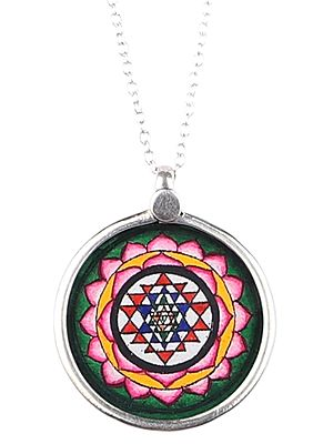 Shri Yantra Pendant for Protection With Sterling Silver