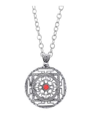 Mandala Pendant With Filigree From Nepal