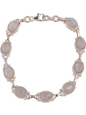 Sterling Bracelet with Cabochon Moonstone