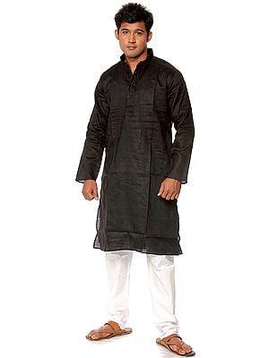Plain Black Kurta Pajama