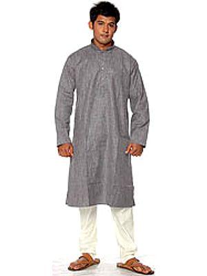 Gray Khadi Kurta Pajama