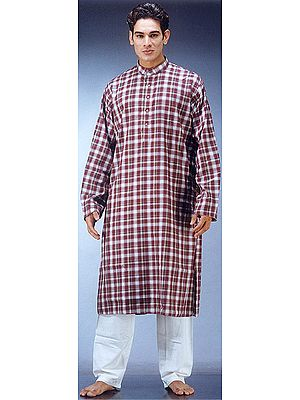 Kurta Set with Checks