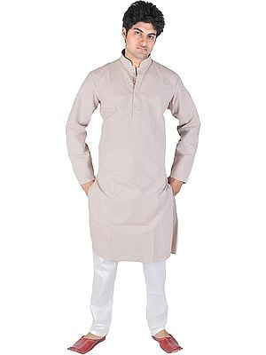 Kurta Pajama with Woven Stripes