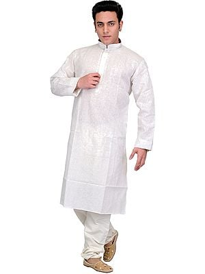 Kurta Pajama with Embroidery on Neck