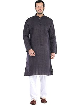 Kurta Pajama with Woven Checks