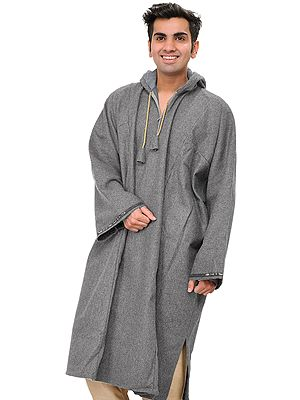 Phiran for Men from Kashmir with Hood