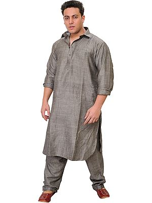 Plain Pathani Kurta Pajama Set