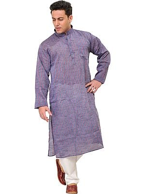 Kurta Pajama Set with Woven Stripes
