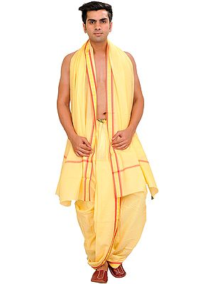 Chamomile Ready to Wear Dhoti and Veshti Set