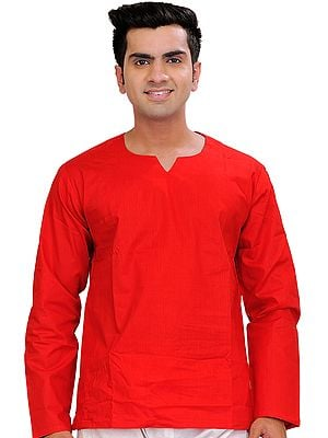 Plain Short Casual Kurta Top