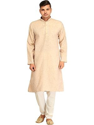 Kurta Pajama Set with Thread Weave and Embroidery on Neck