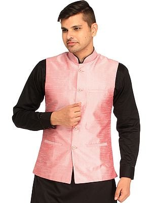 Plain Wedding Waistcoat with Front Pockets