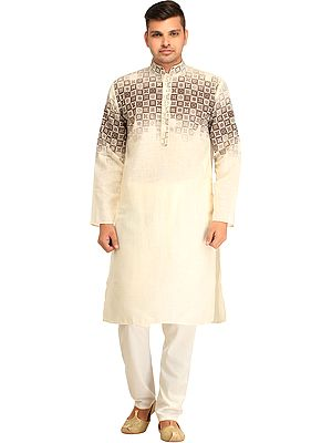 Casual Kurta Pajama Set with Fading Print