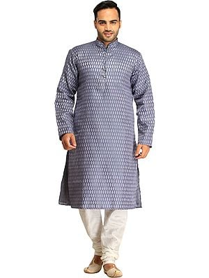 Wedding Banarasi Kurta Pajama Set with Woven Bootis All-Over