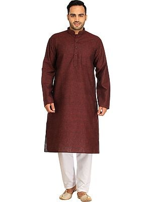 Casual Kurta Pajama Set with Thread Weave
