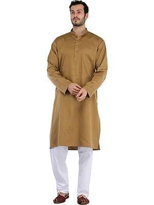 Plain Casual Kurta with White Pajama Set