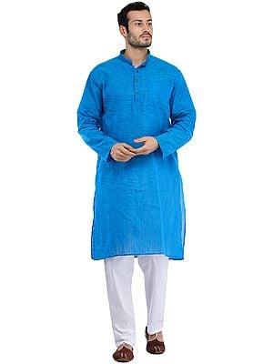Casual Kurta Pajama Set with Straight Stitch
