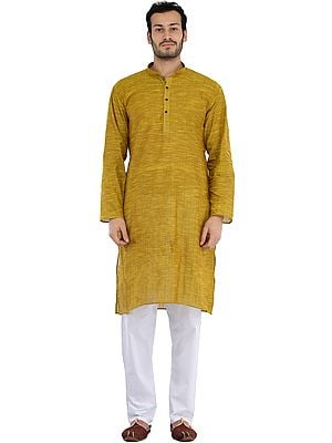 Casual Kurta Pajama Set with Straight Stitch