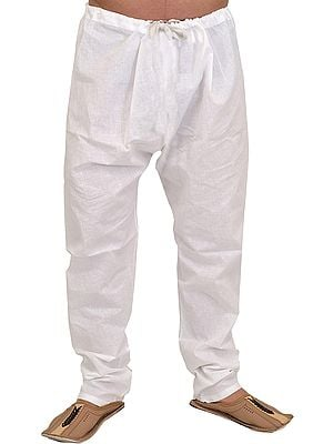 Star-White Casual Pure Cotton Pajama from Iskon Vrindavan by BLISS