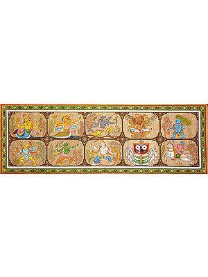 Dashavatara Panel (Ten Incarnations of Lord Vishnu)