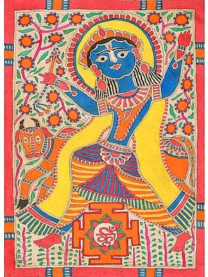 Lord Krishna with His Yantra
