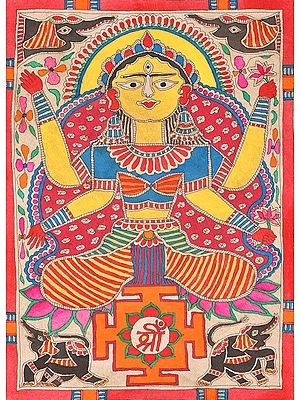 Kamala as Mahavidya with Yantra (Goddess Lakshmi)