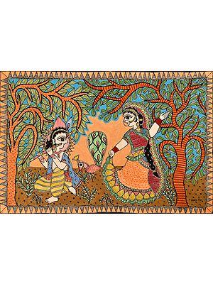 Radha Dancing on the Flute of Krishna