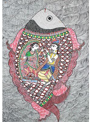 Radha-Krishna Within The Body Of a Fish