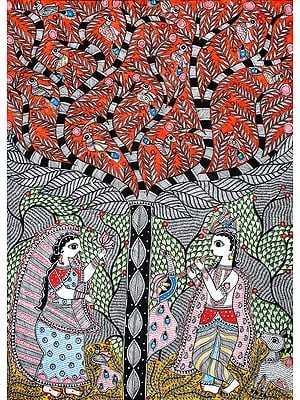 Krishna And The Kadamba Tree