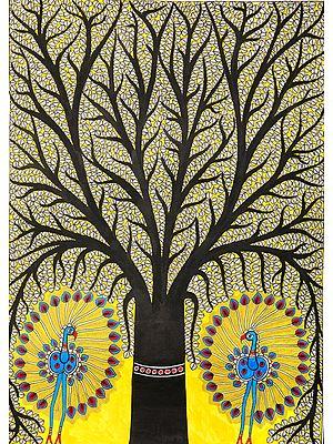 Tree of Life with Dancing Peacocks
